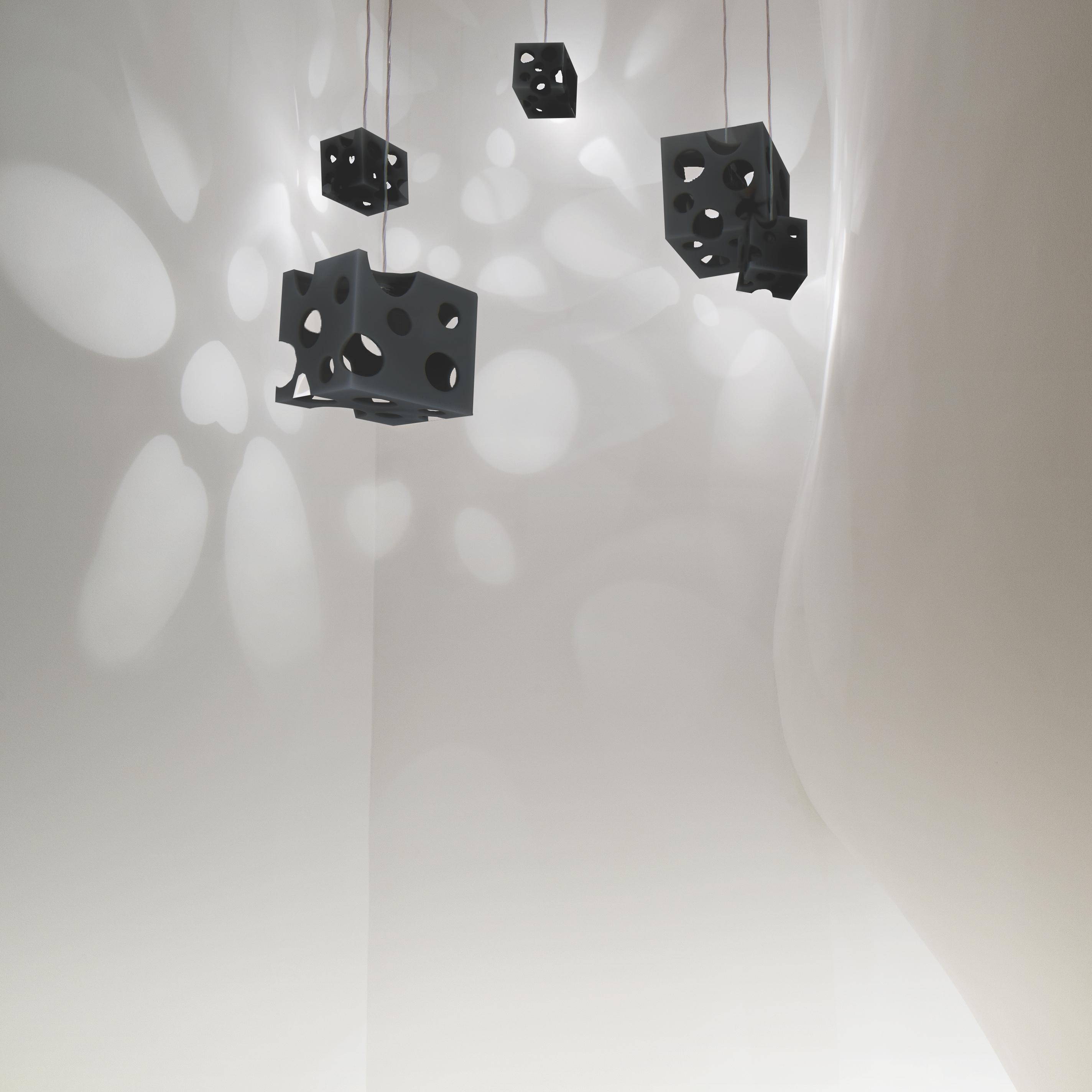 ルミエ・クッペ (黒) - Lumière Coupée (Black)  - W200xD200xH200mm