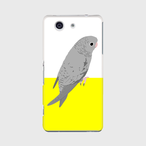 Xperia Z3 Compact サザナミインコ グレー ケース