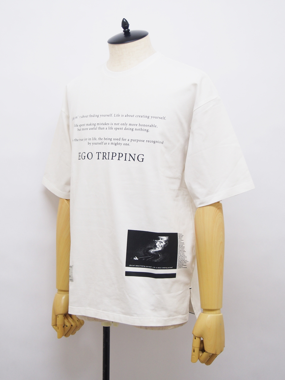 EGO TRIPPING (エゴトリッピング) QUOTE TEE / WHITE 663662-00