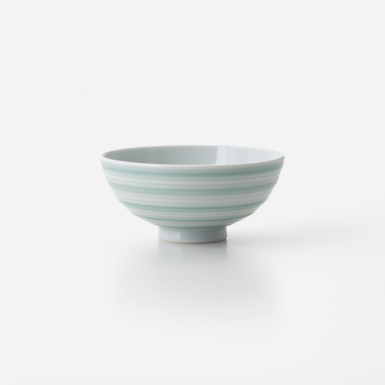 No.173 青磁千段 飯碗 (小)