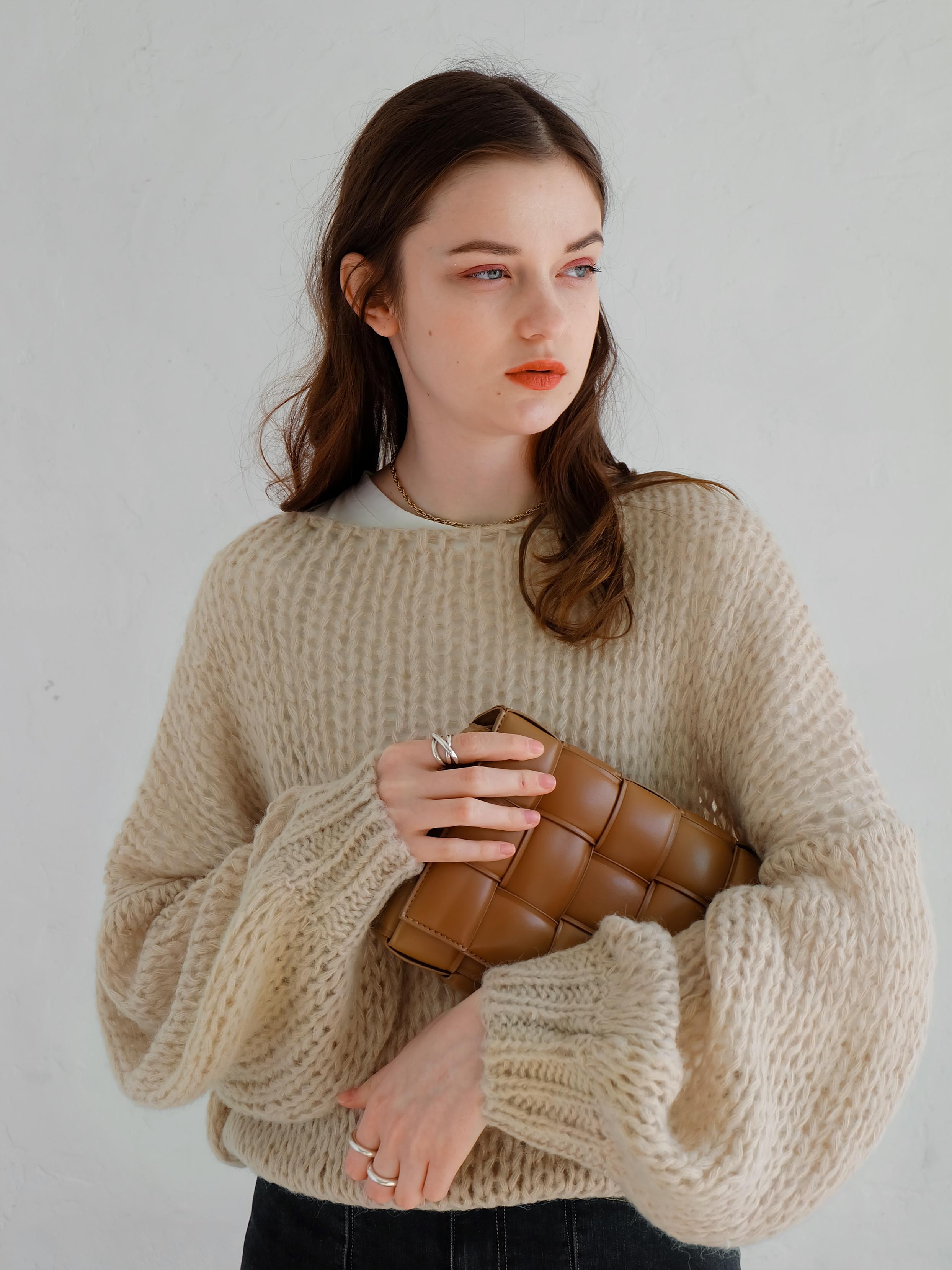 mohair low-gauge knit(beige)