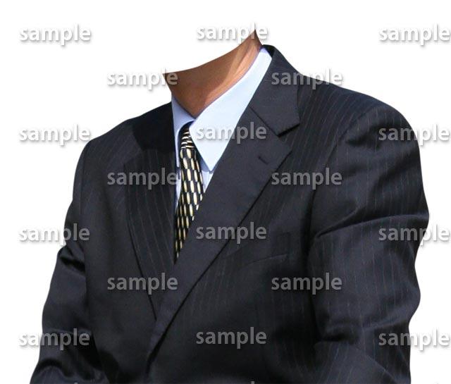 男性紺スーツ斜めA