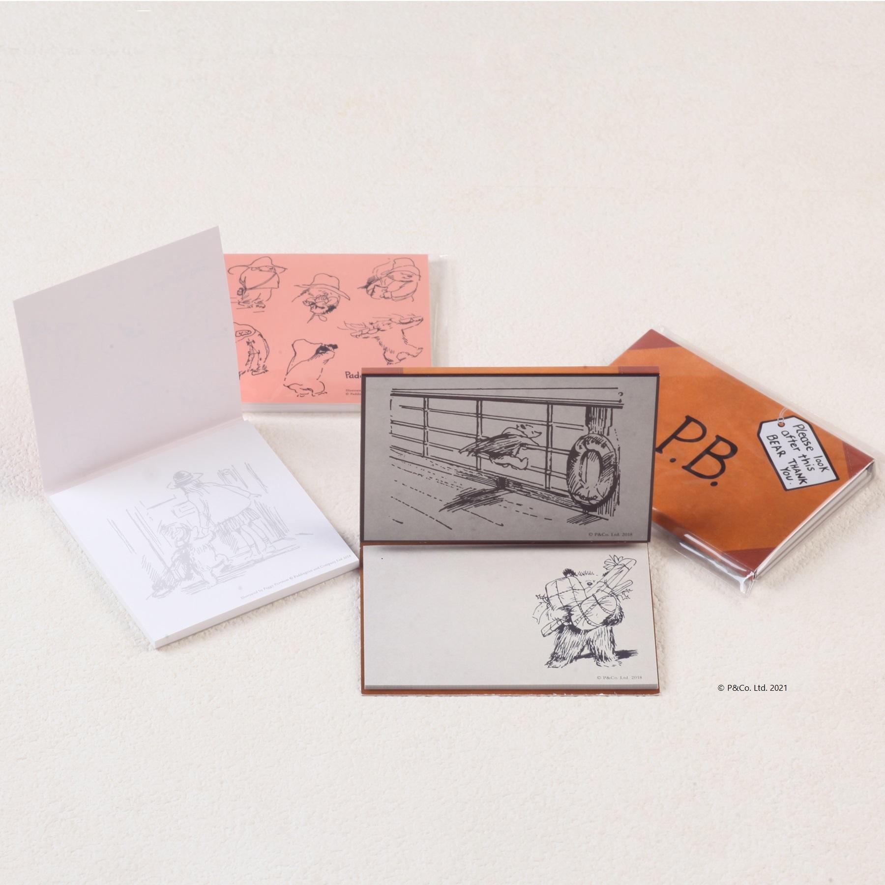 「くまのパディントン™展」展覧会オリジナルの付箋・メモパッドセット