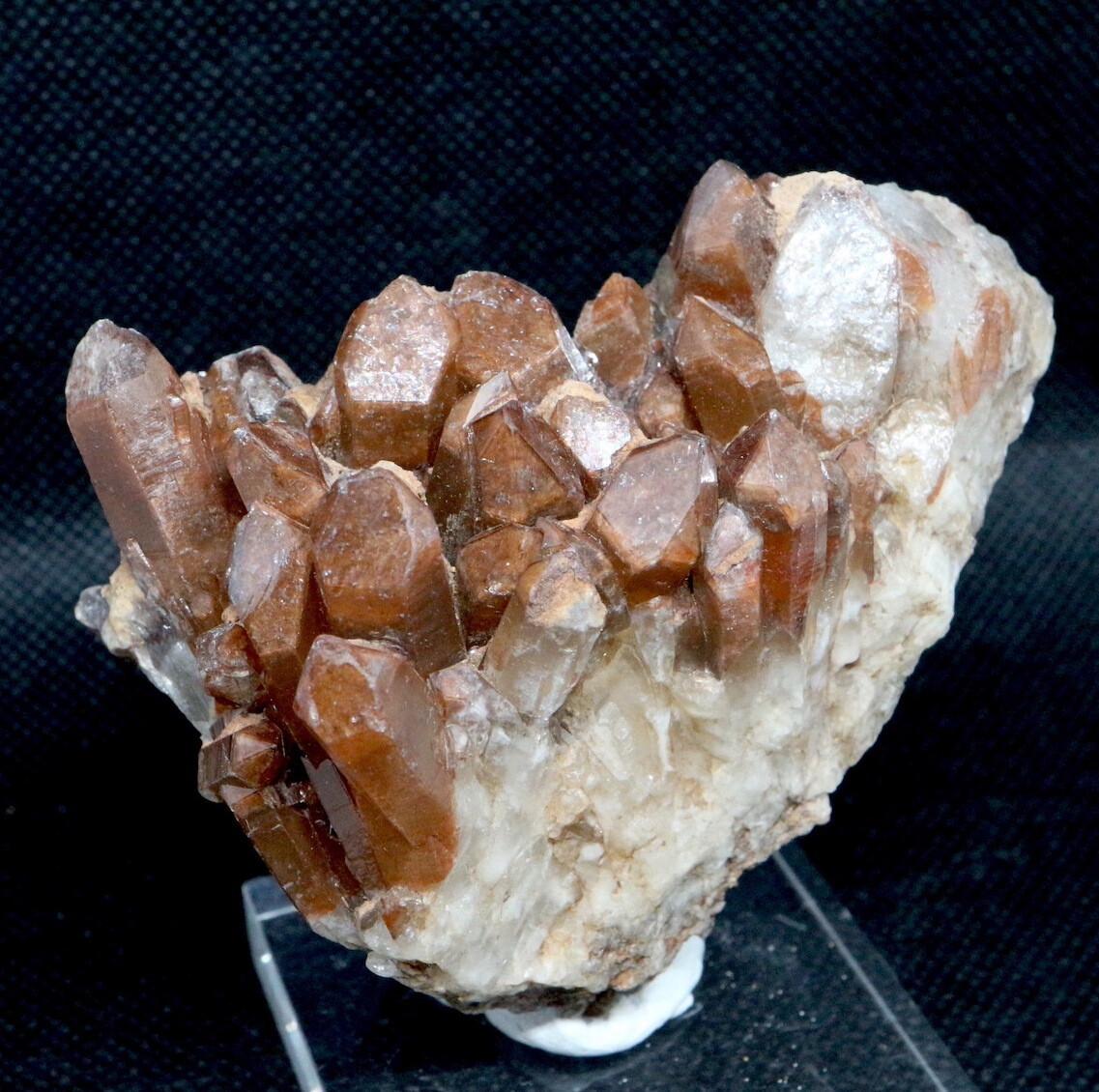 コロラド産 レッドフェザー レイクス クォーツ ヘマタイト 水晶 合計203,9g RFQ020 鉱物 原石 天然石 パワーストーン