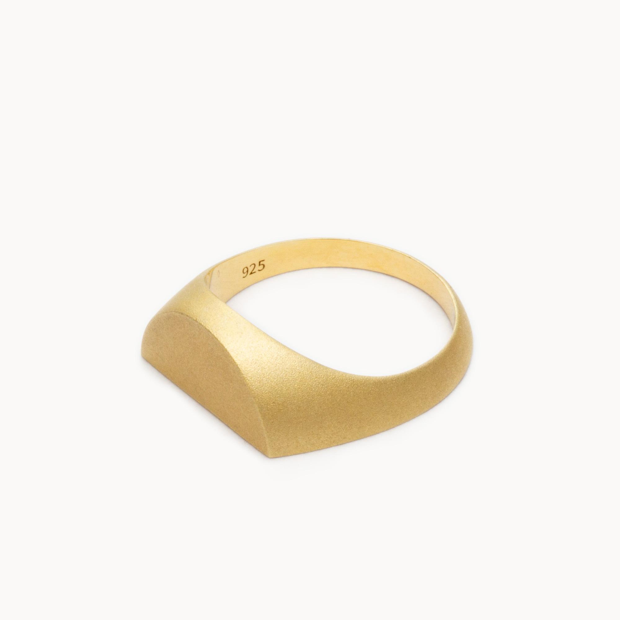 Half Signet Ring リング  - art.1607R011020S