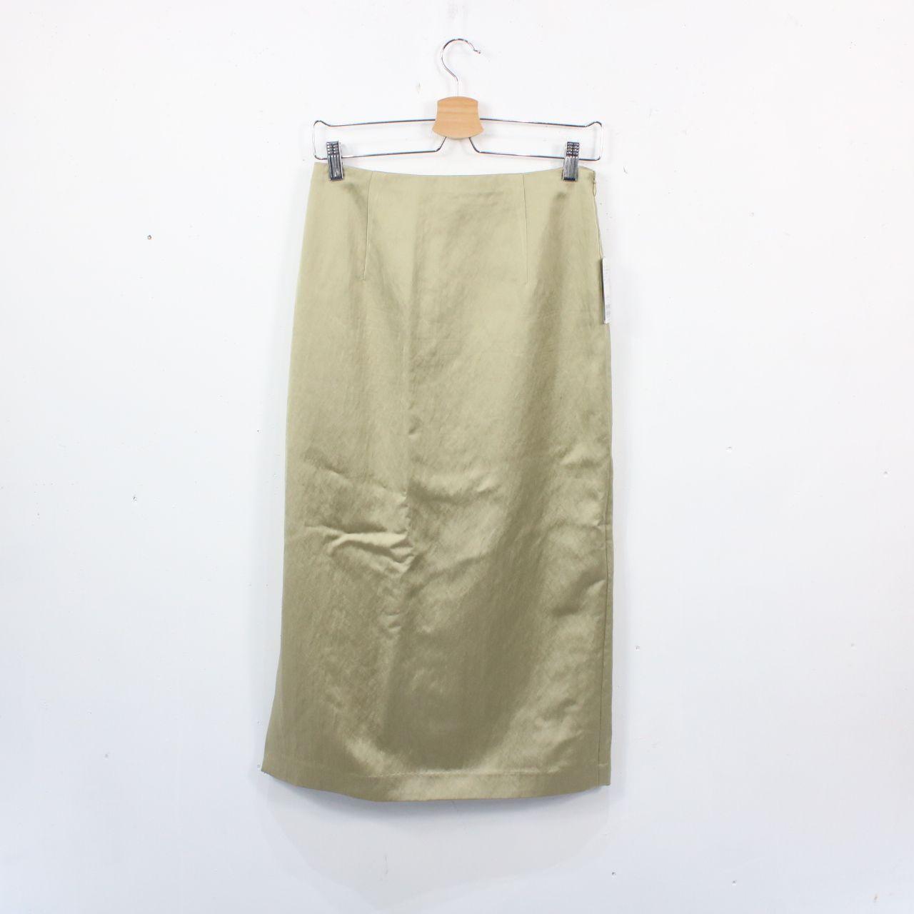 【新品】IENA / イエナ | 2020SS | サテンタイトスカート | 38 | グリーン
