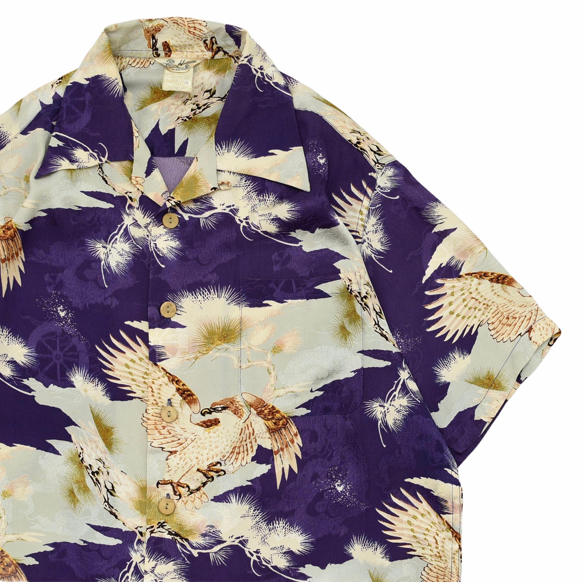 Vintage Hawaiian by BIG JOHN 和柄 silk aloha shirt
