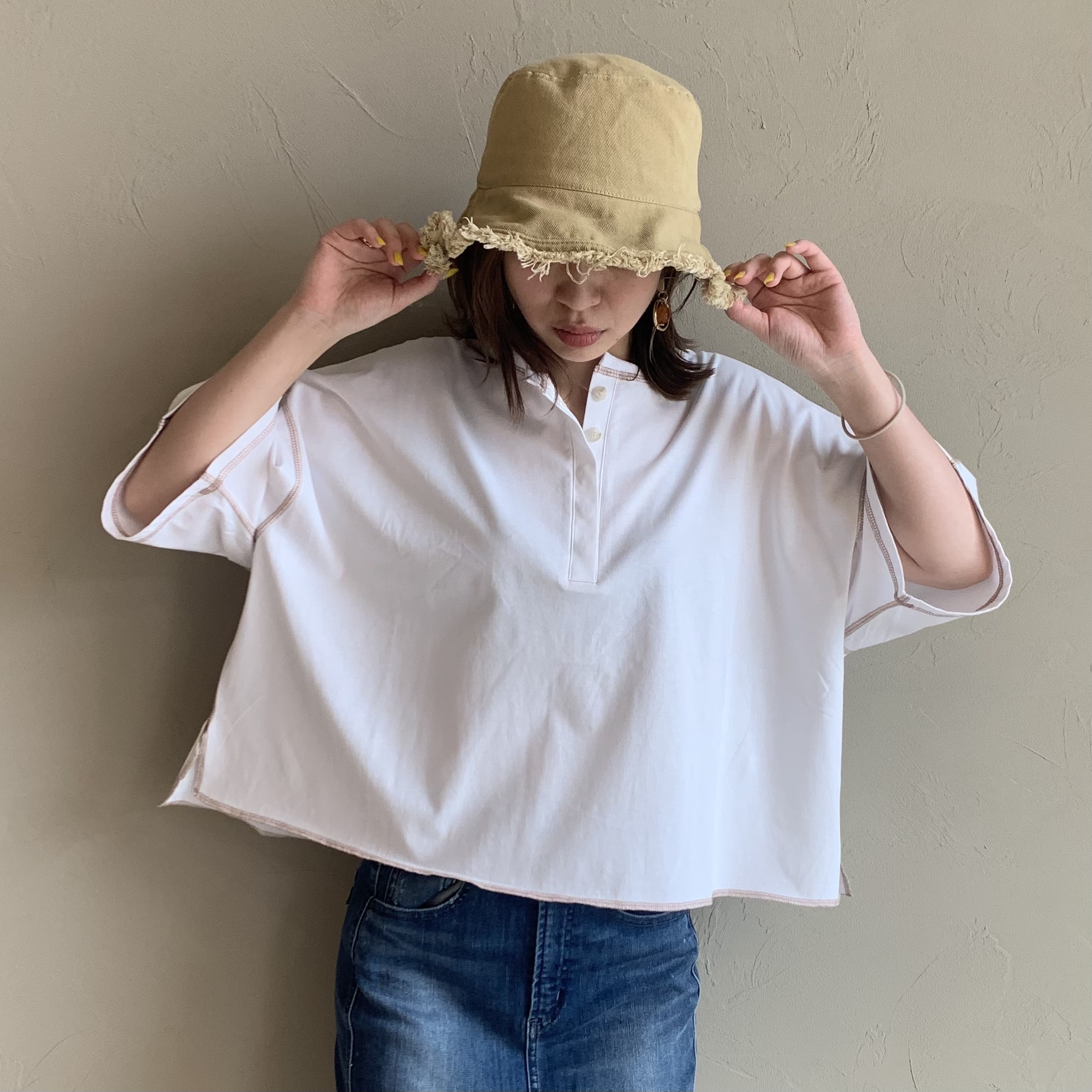 【 ANTGAUGE 】- AB957 - ショート丈オーバーTシャツ