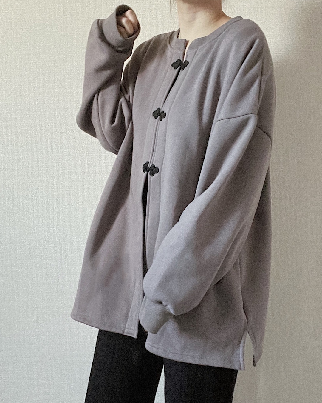 【purple】2way china pullover