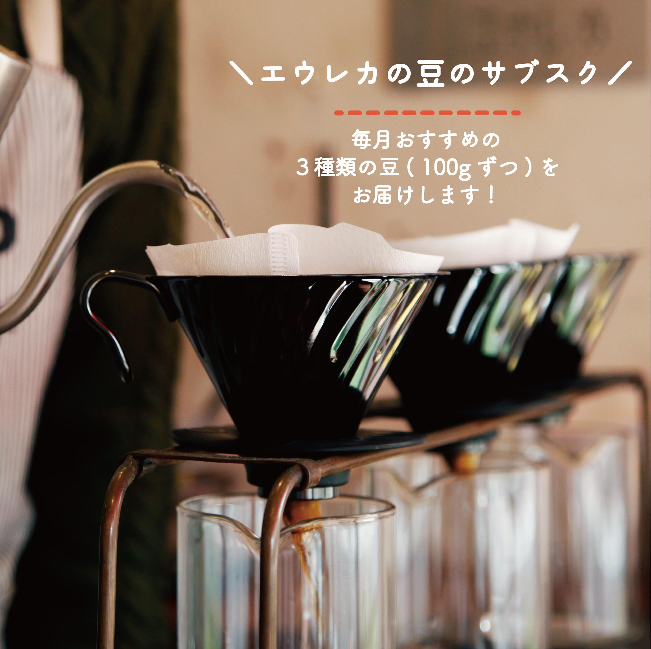 今月のオススメの豆【100グラム × 3種類】 |  3ヶ月