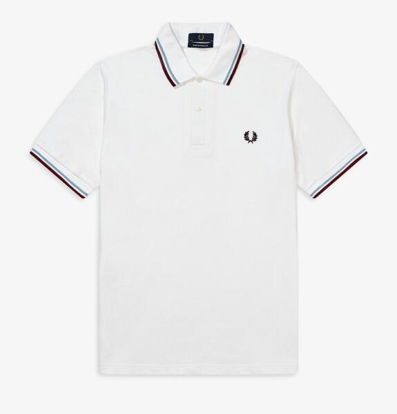 フレッドペリー ポロシャツ メンズ THE FRED PERRY SHIRT M12 WHITE / ICE / MAROON
