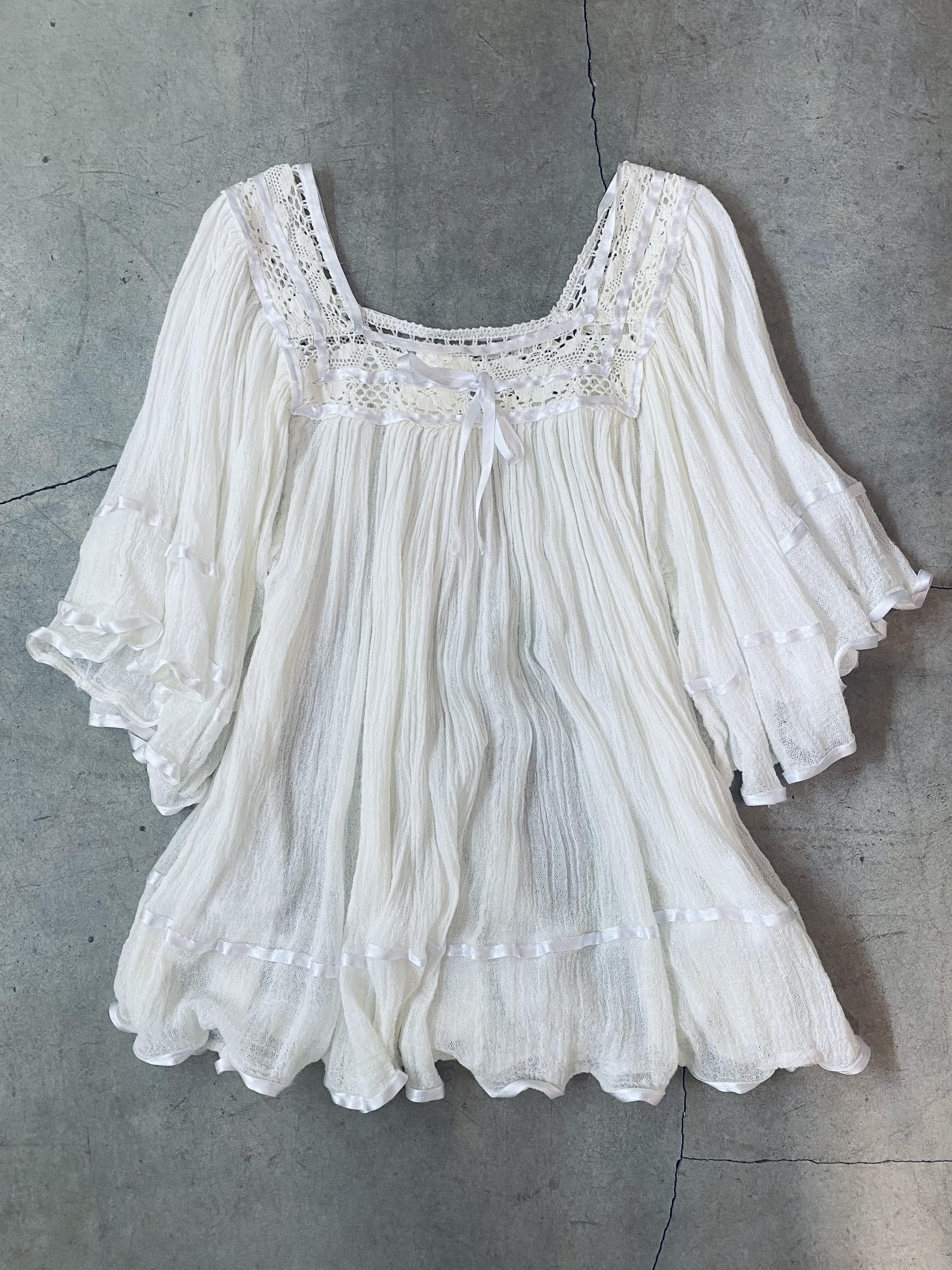 vintage greek blouse