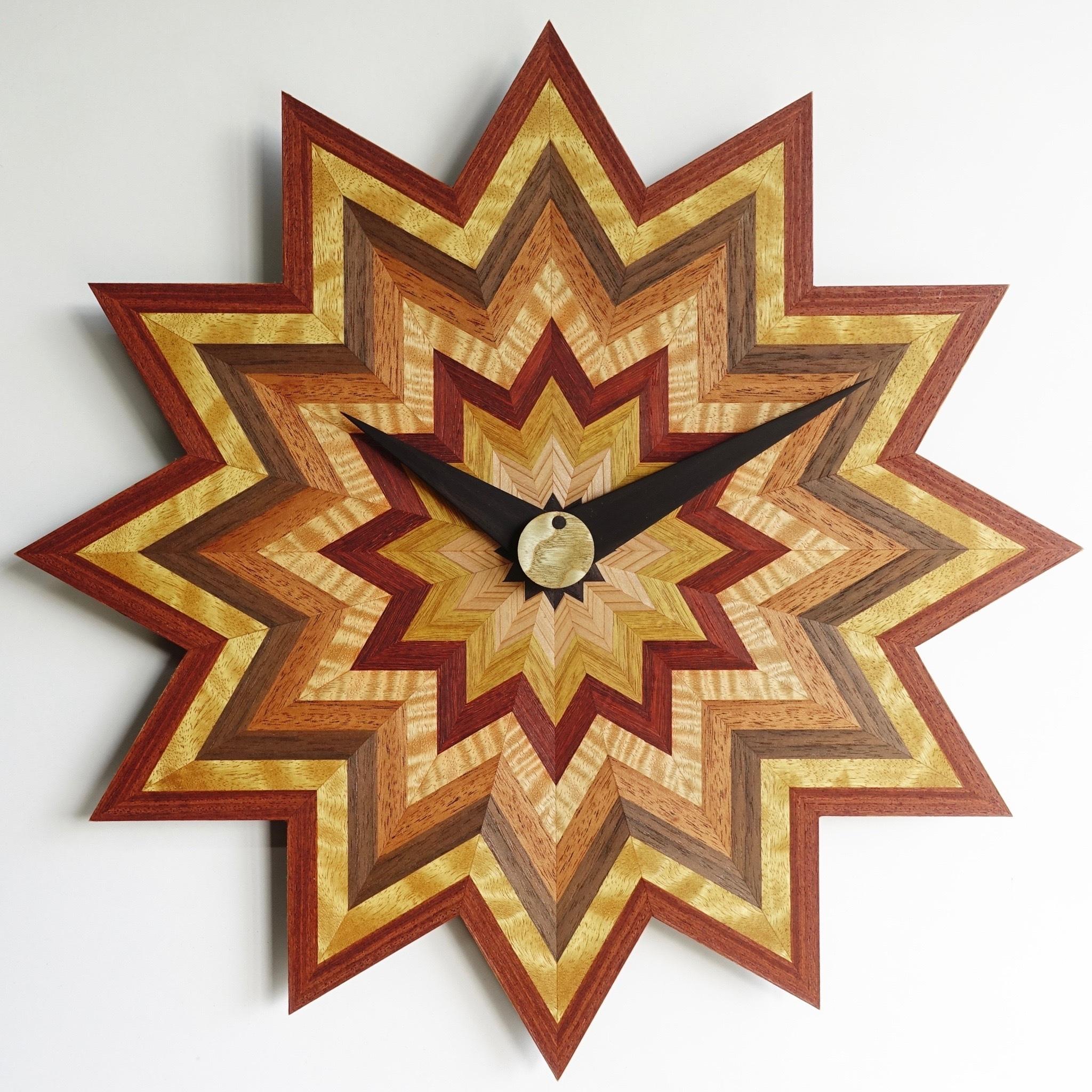 木の掛け時計 CLS-L-凹凸 0014