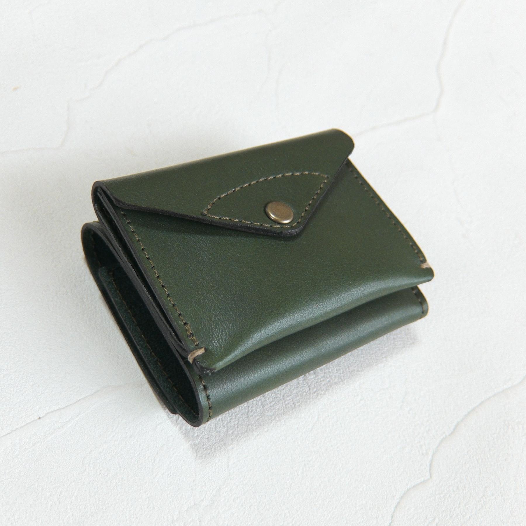 【受注生産】3つ折り財布 Green