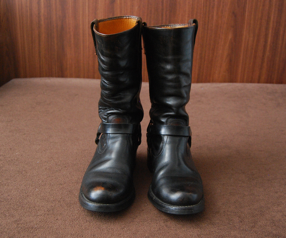60s Vintage Motorcycle Boots 9E
