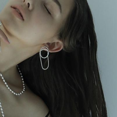 【 sea'ds mara 】 - 20a1-24P / 24E - Combination ball chain Pierce / Earrings