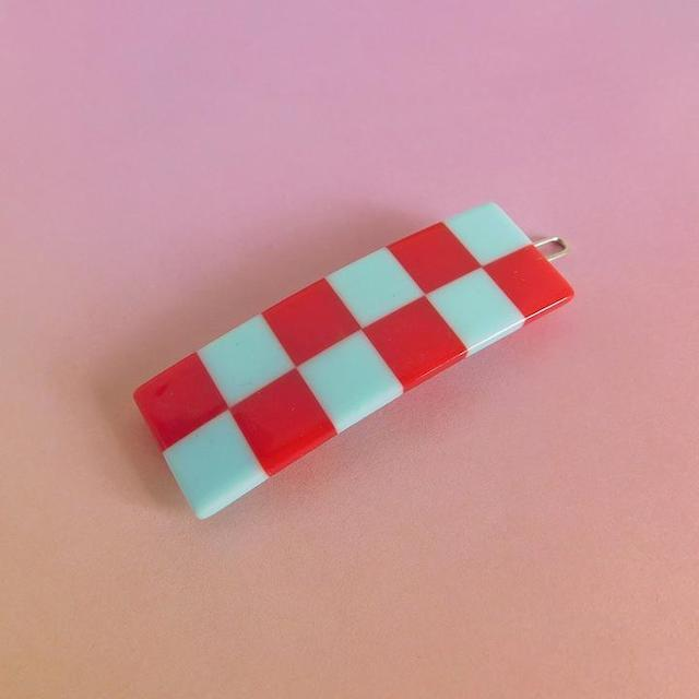 """Chunks """"Cecile Clips"""" Red/Sky Blue"""