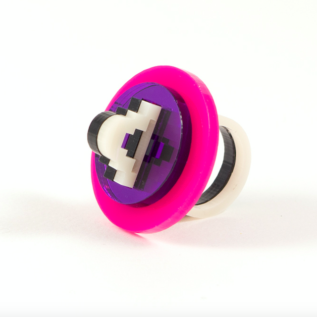 """MYSTIC FORMS """"Geometric Perspex Statement Ring"""" リング"""
