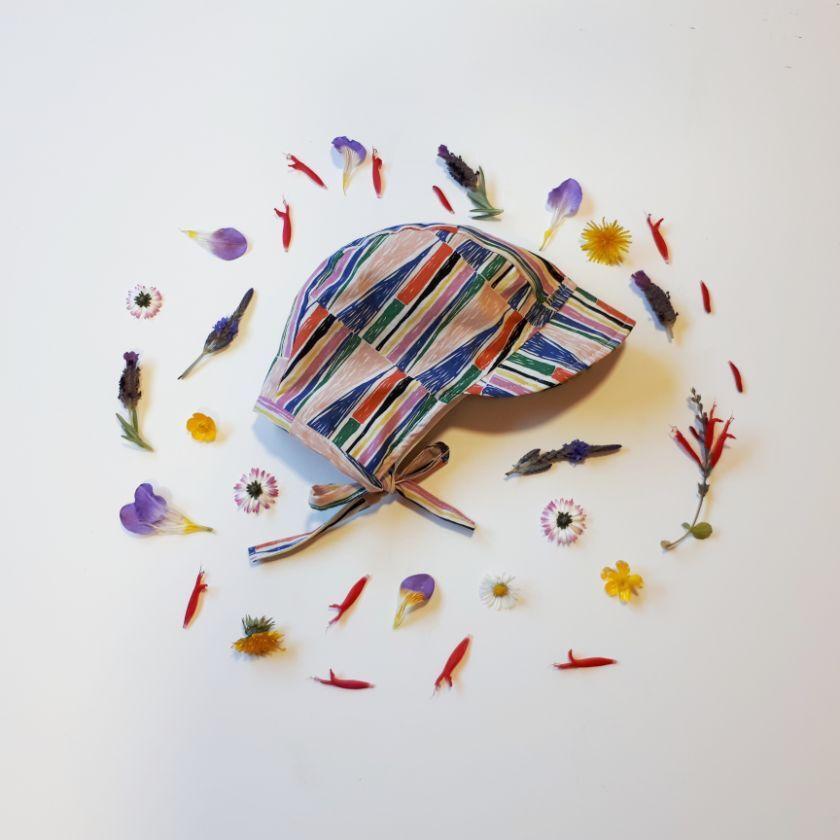 lola&me【0-3 months - Kaleidescope】オーガニックサンボンネット