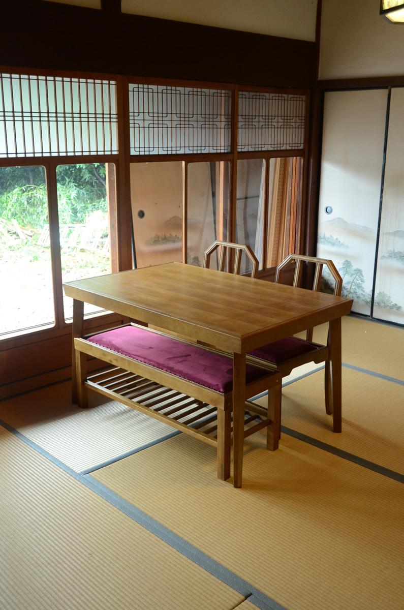 JP Modern Dining Table / 和モダンスタイル 和モダン ダイニングテーブル