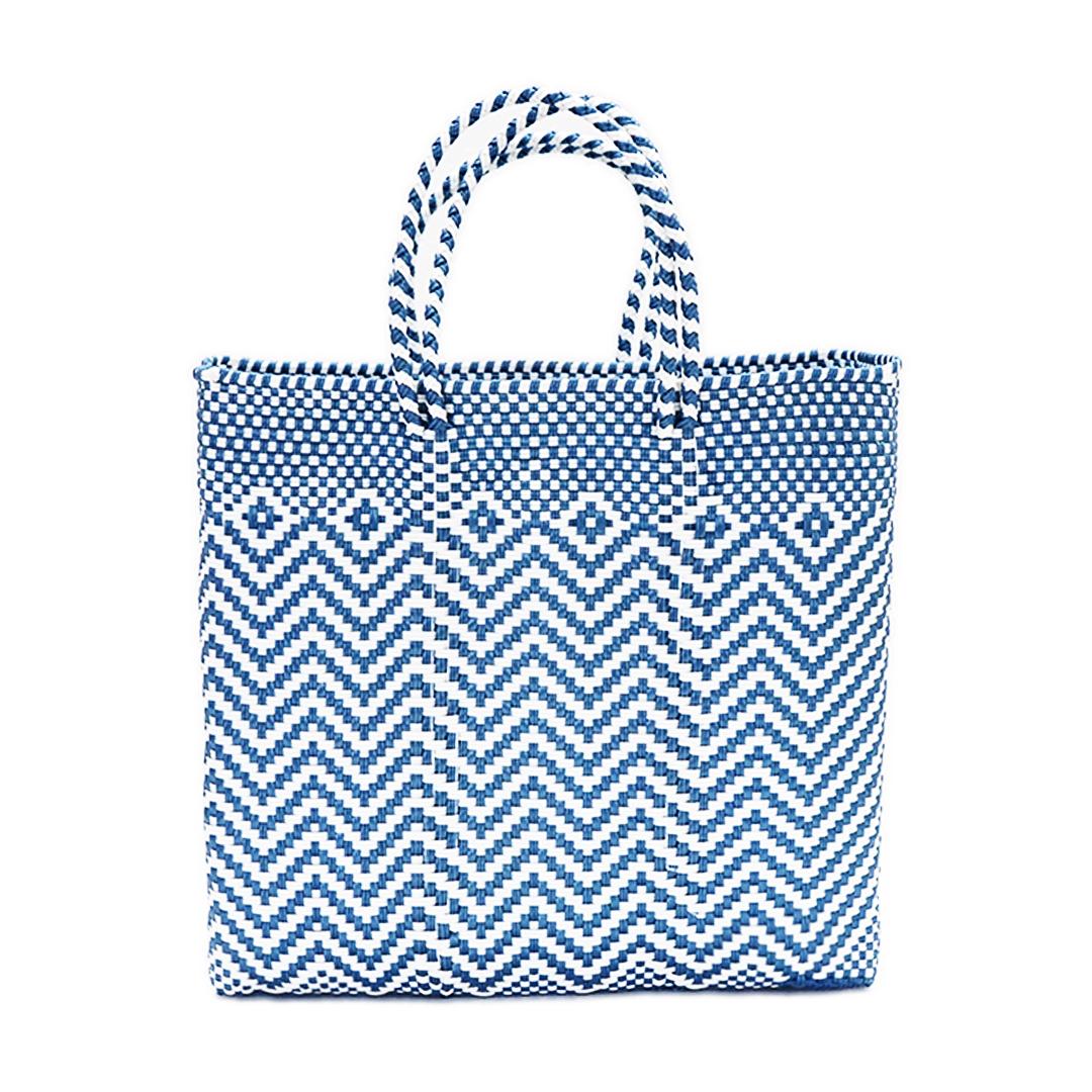 MERCADO BAG JAGGY - White × Metallic Blue(M)