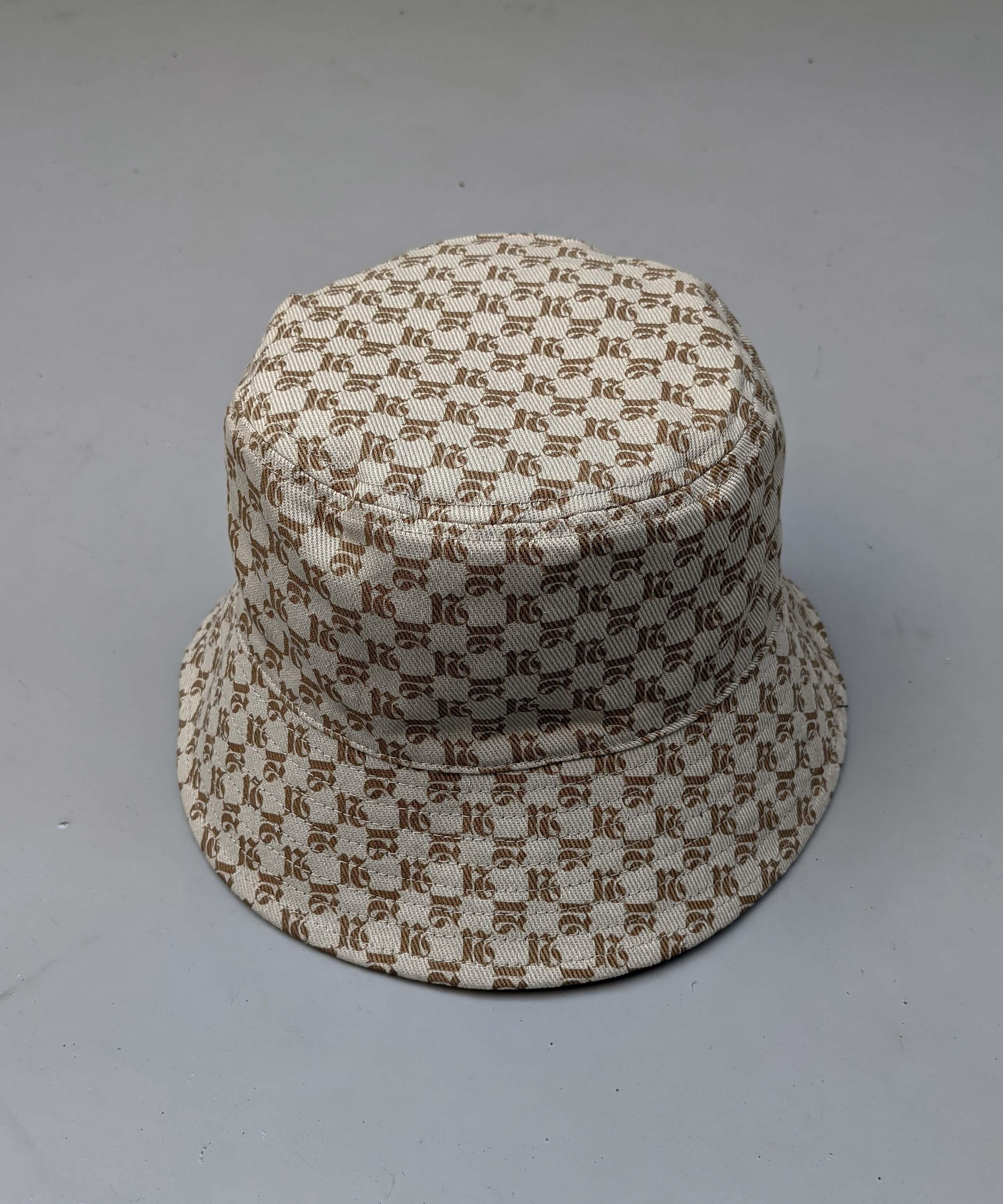 2way monogram bucket hat
