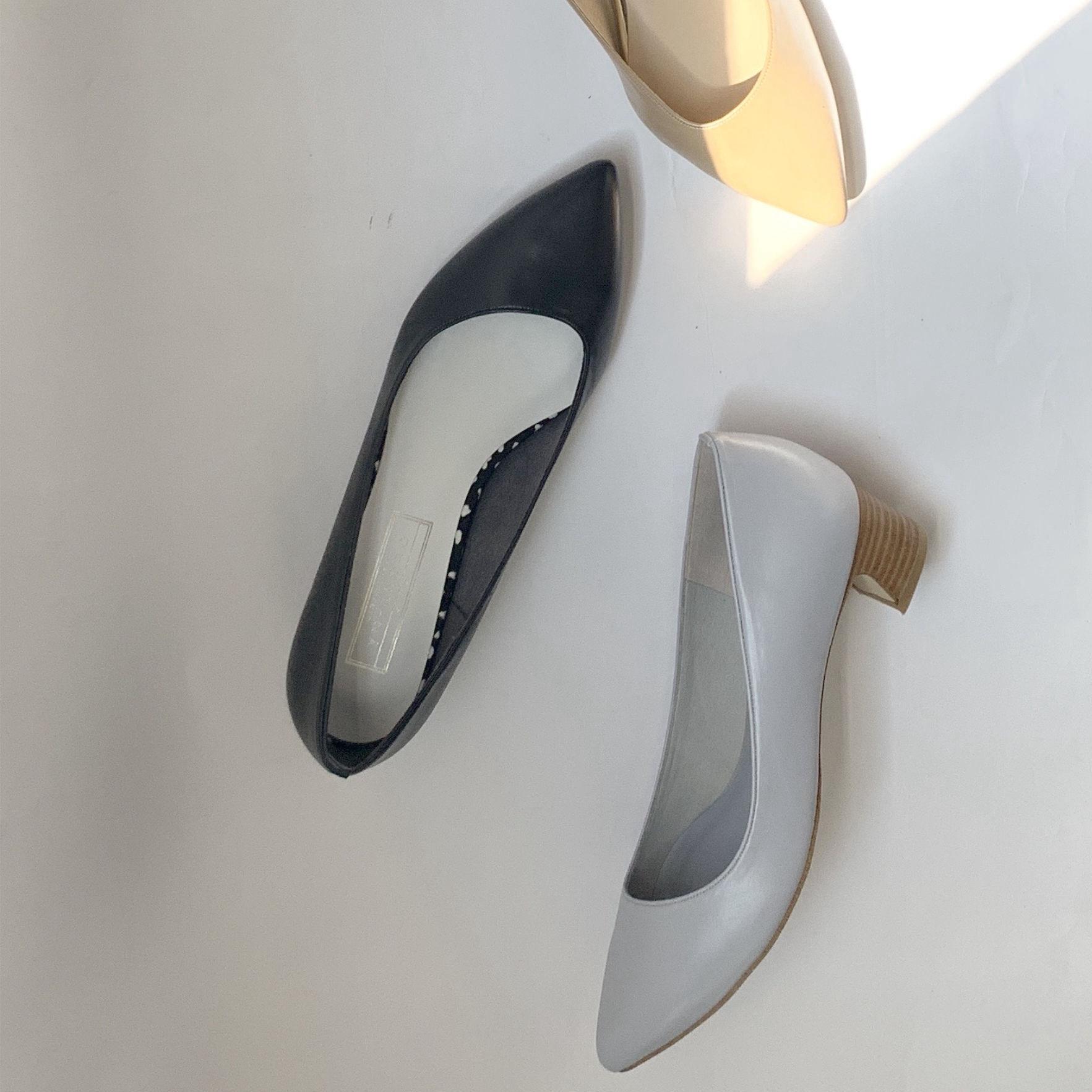 Oblique Point Pumps|オブリークカットポインテッドパンプス_#OT1092A【Ought=na】|日本製