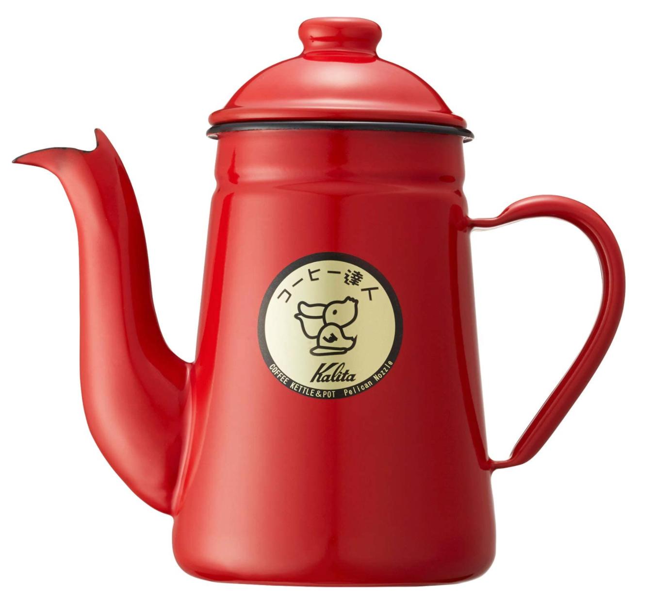 カリタ  ペリカン コーヒーポット 1L 赤