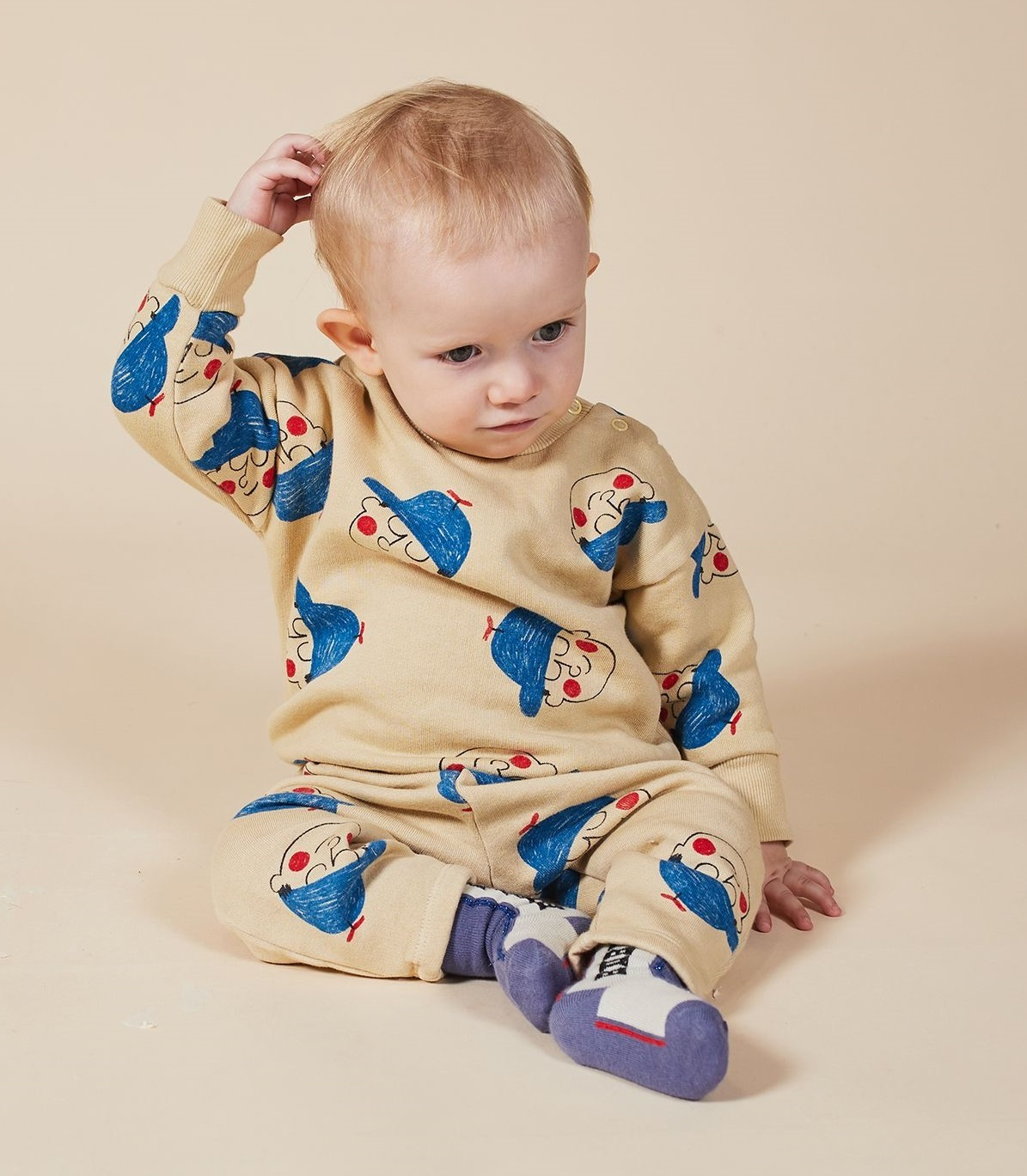 BOBO CHOSES ボボショセス Boy All Over Sweatshirt size:12-18M(80-90)~18-24M(90-100)