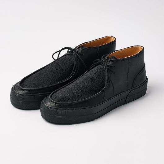 SLACK FOOTWEAR  / LUMOA (BLACK/BLACK FUR/BLACK)
