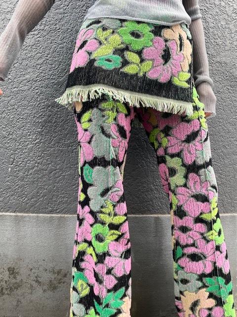 FUMIKA_UCHIDA   [FLORAL WRAP SKIRT PANTS