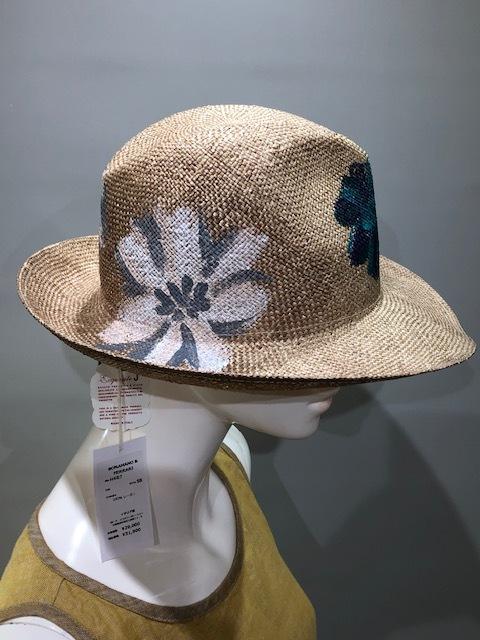 Exquisite J H457 Col.Tipo ハンドプリントレーヨン帽子 イタリア製