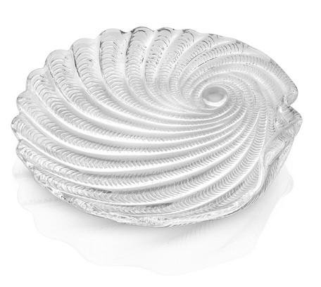 IVV shellmotif clear 21cmガラスプレート Saint Tropez【イタリア製ガラス食器】