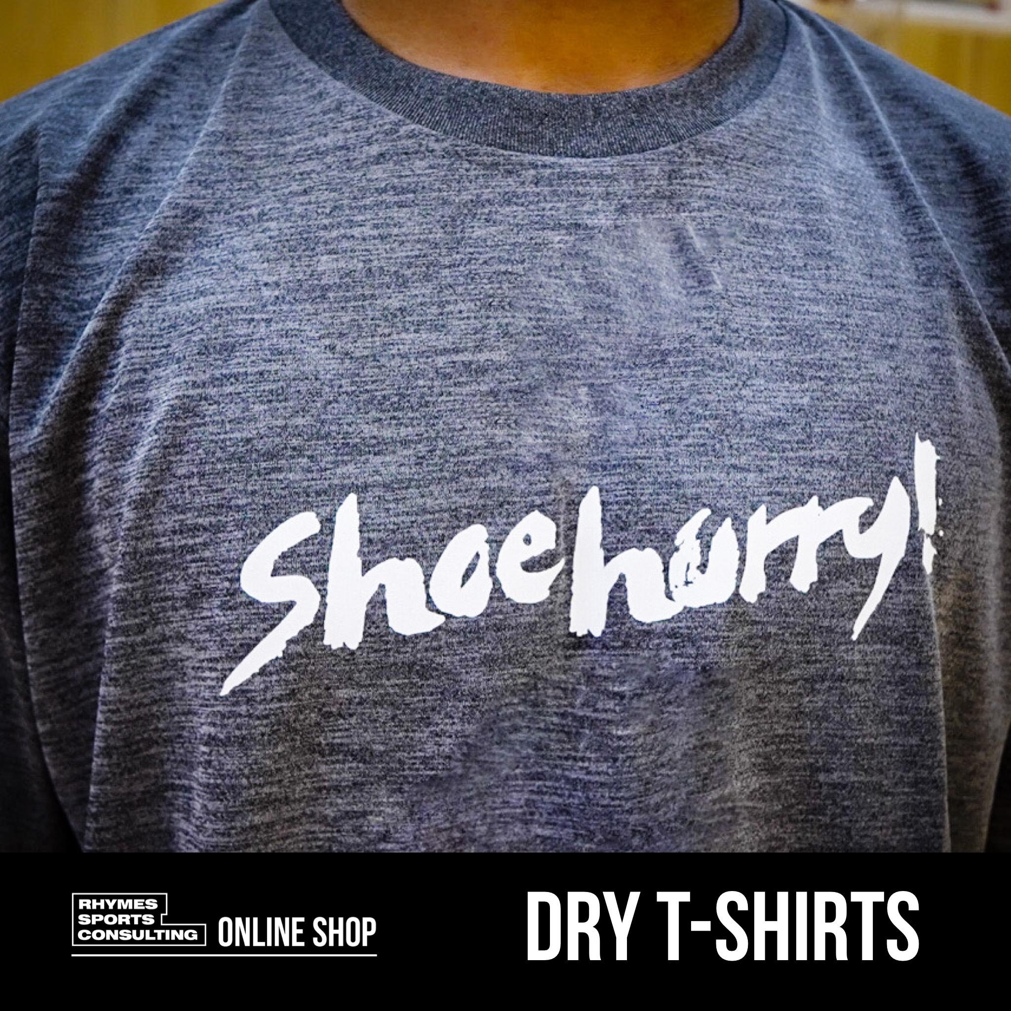 SHOEHURRY! ドライTシャツ(グレー×ホワイト)