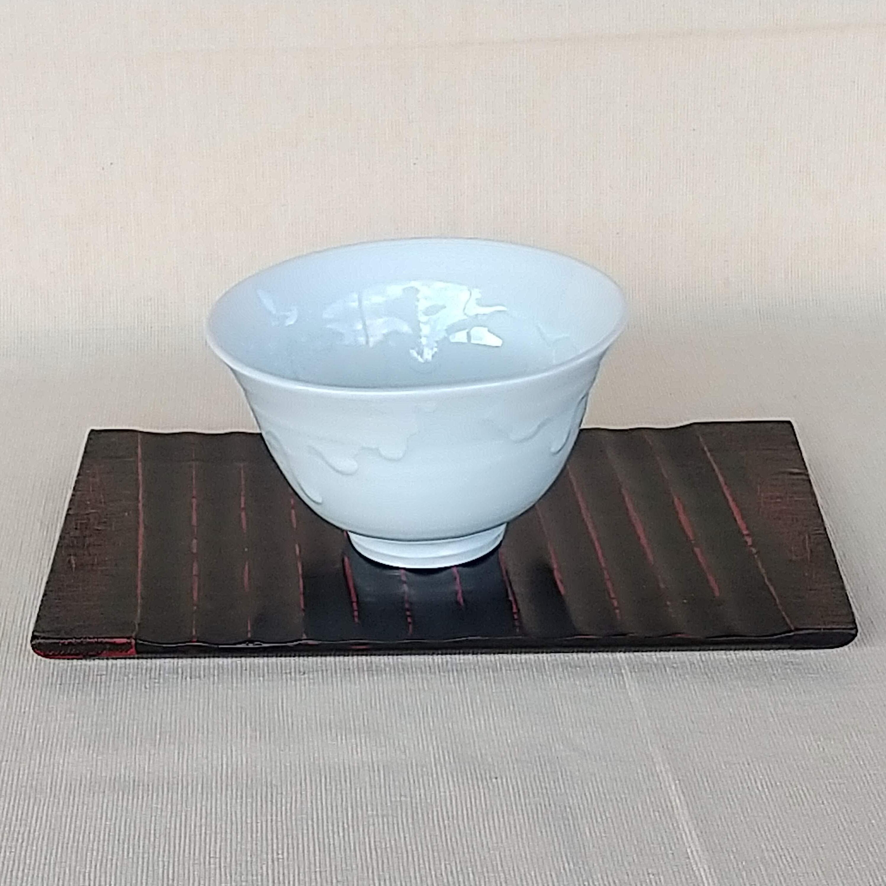 秀島窯作 白線流し 飯碗 (大)