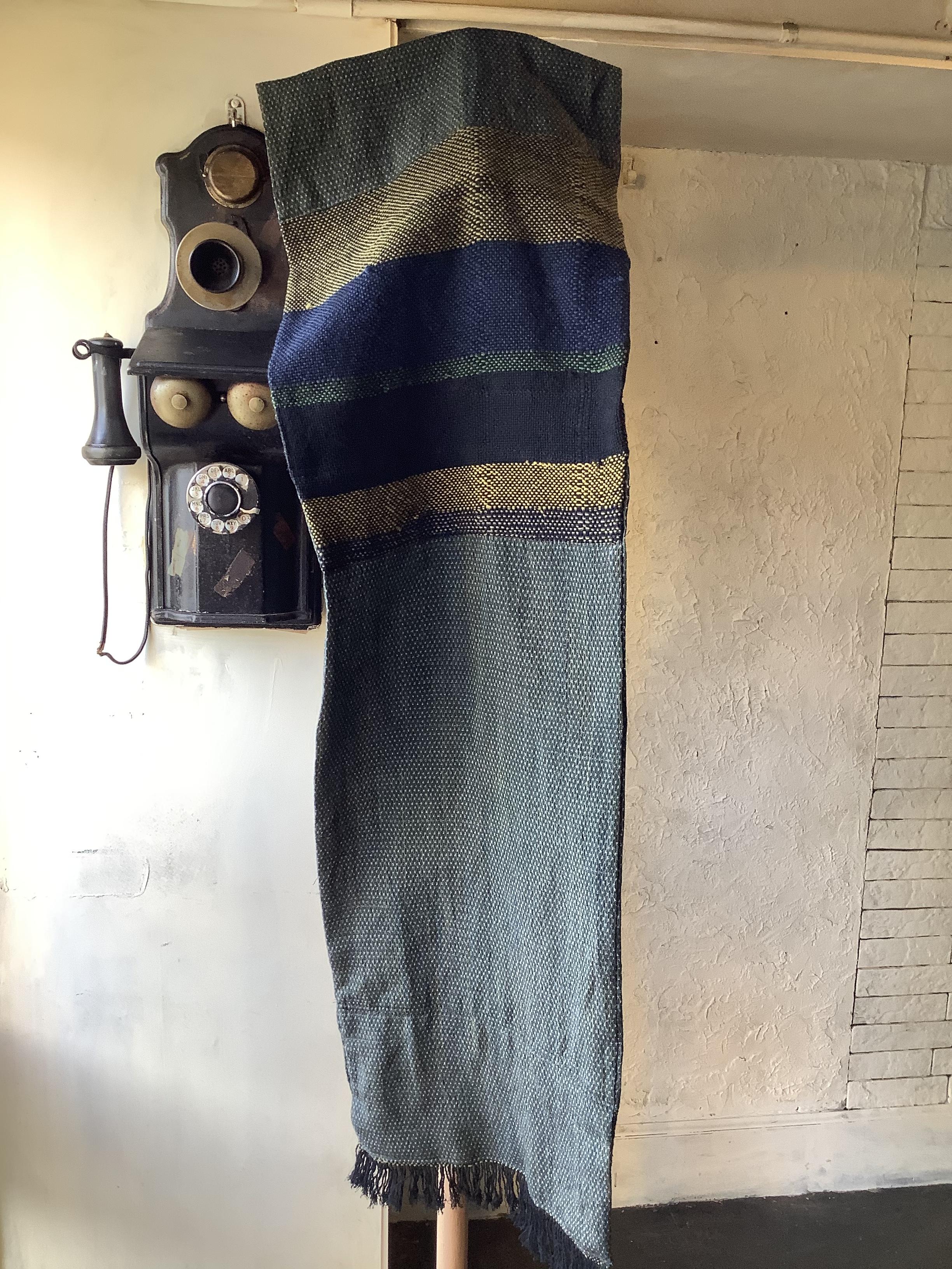 紬反物と手織綿布のマフラー 21MF001