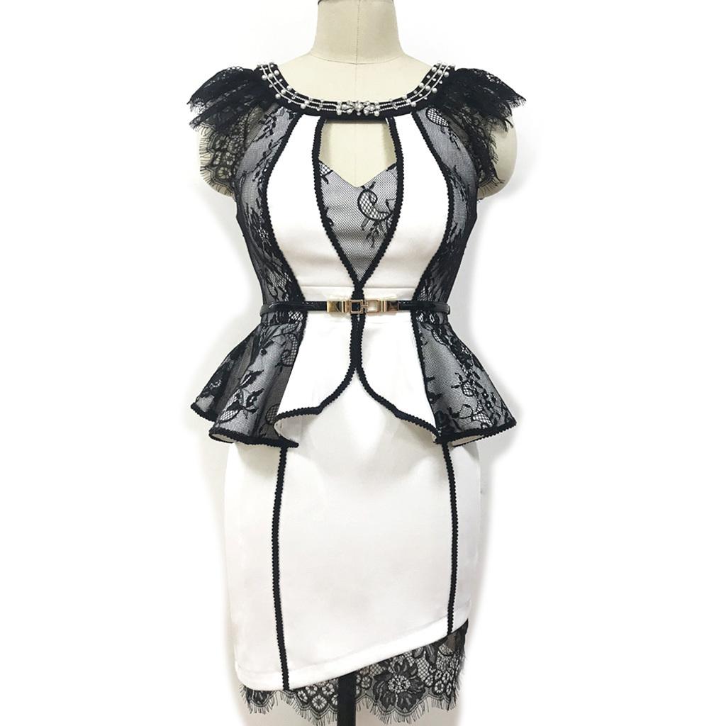 新作 キャバドレス ナイトドレス  レースワンピース飾り付け