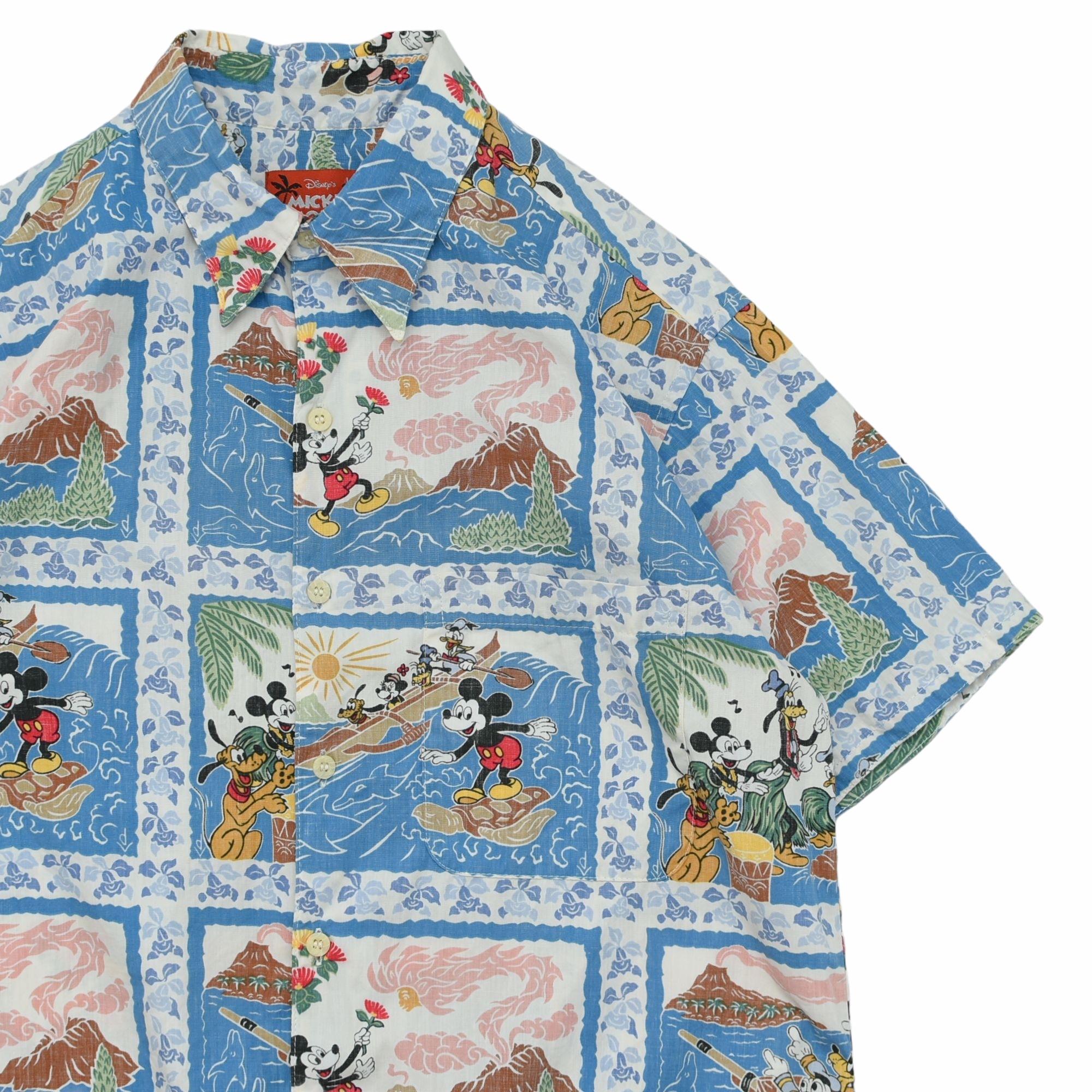 Reyn Spooner × Disney aloha shirt Made in USA