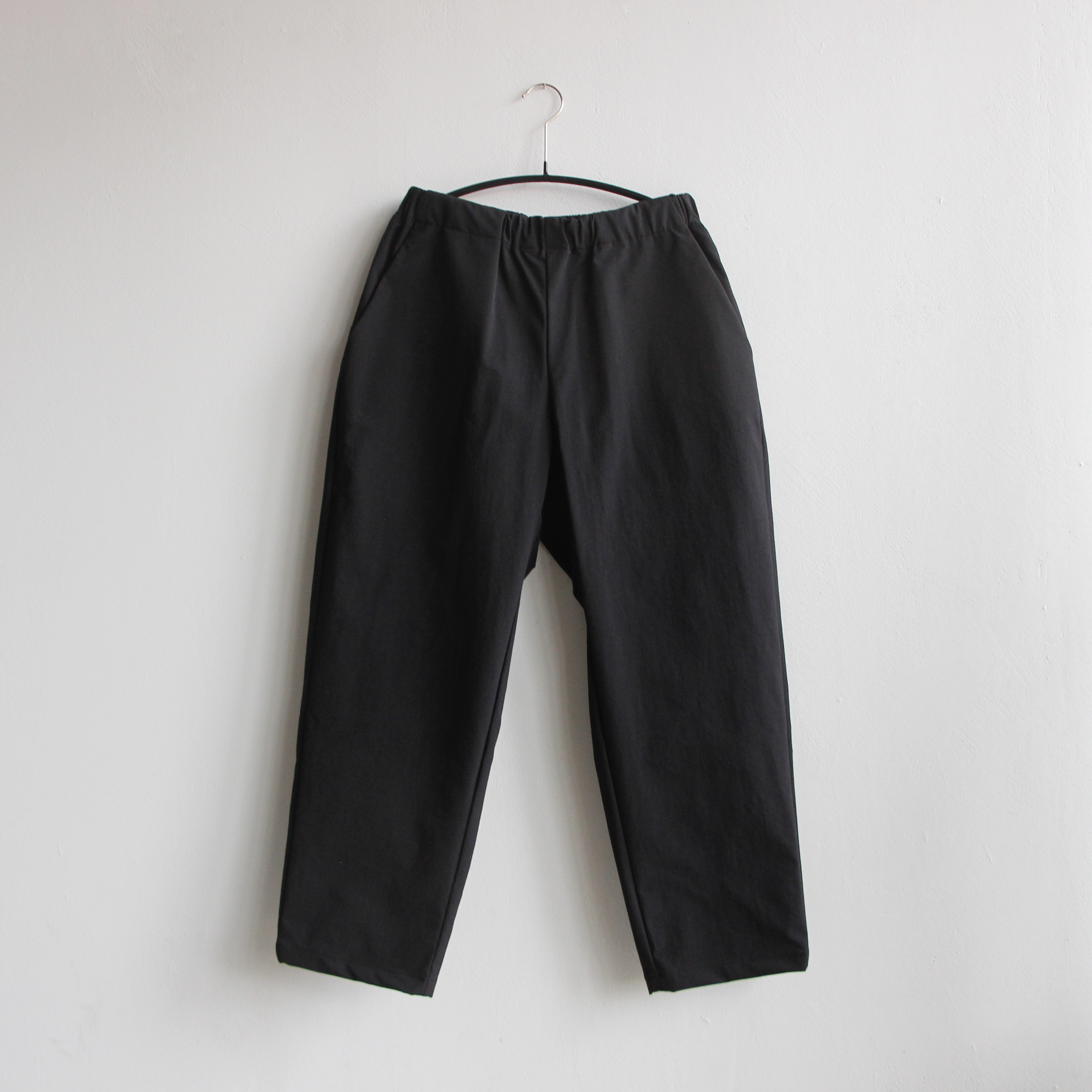 《MOUNTEN. 2021SS》double cloth stretch pants / black / size1(155-165cm程度)