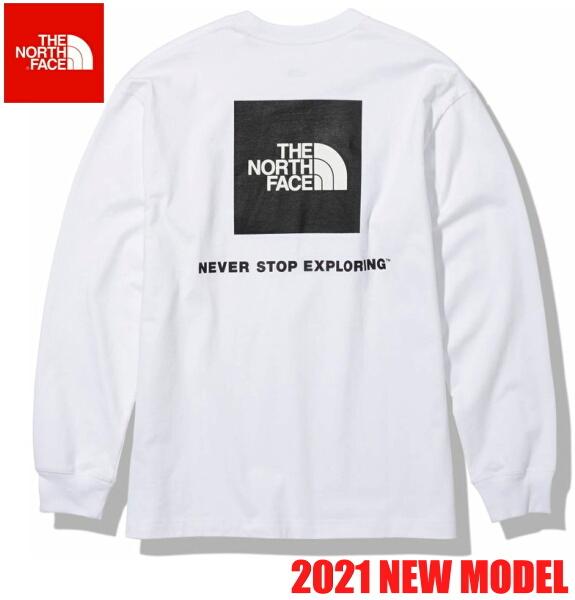 ノースフェイス ロンT 長袖 Tシャツ メンズ THE NORTH FACE ロングスリーブバックスクエアロゴティー NT82131 ホワイト