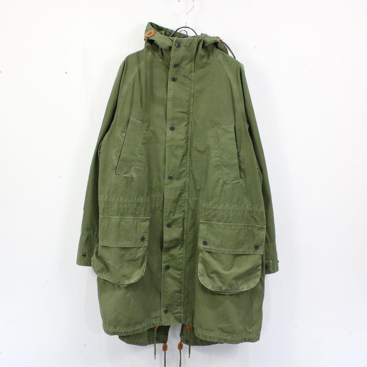 Engineered Garments / エンジニアドガーメンツ | Barbourコラボ washed highland parka  フィッシュテールパーカー | S | オリーブ | メンズ