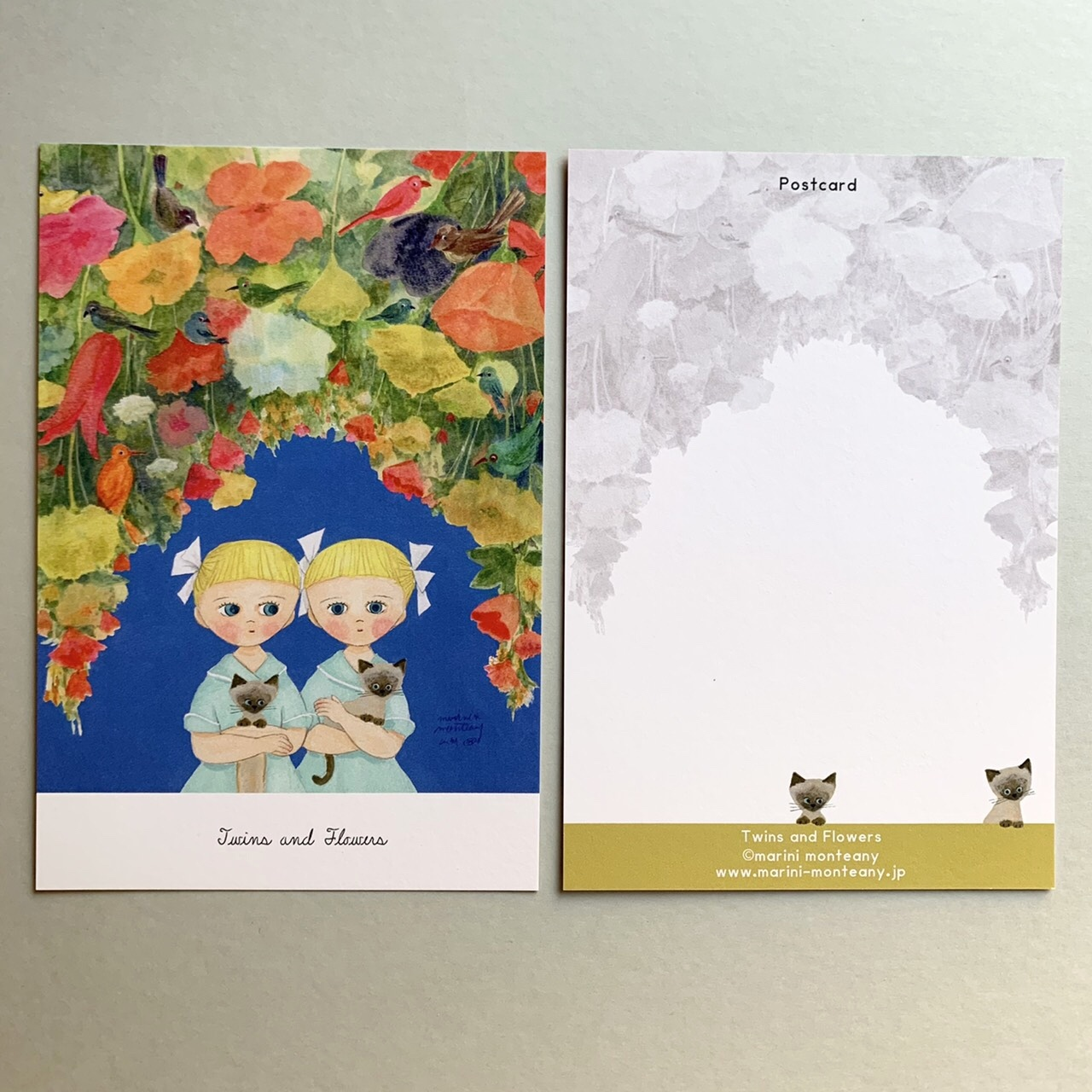 POST CARD「Twins & Flowers」no.181