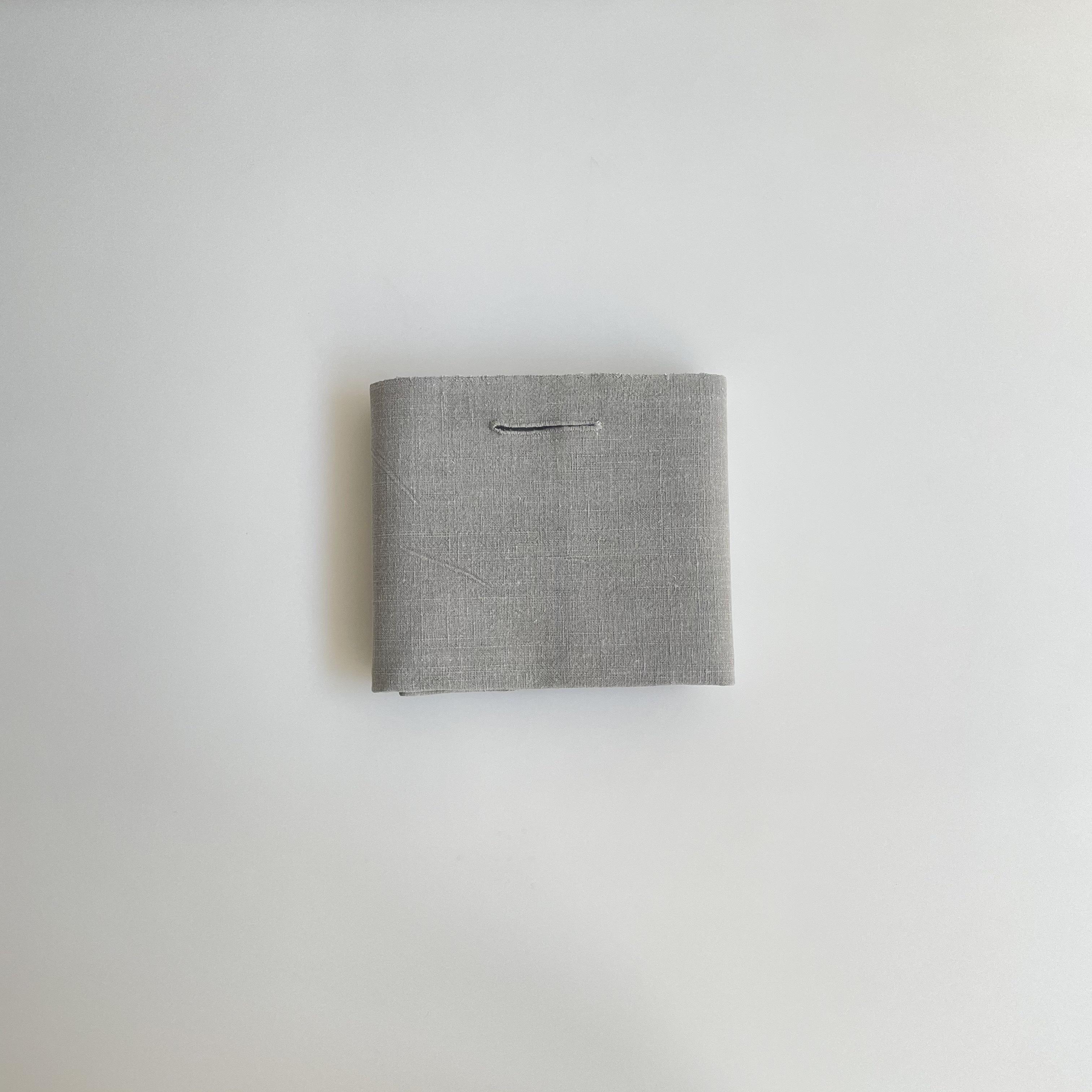 石井すみ子   手織り綿布巾  墨染め/淡