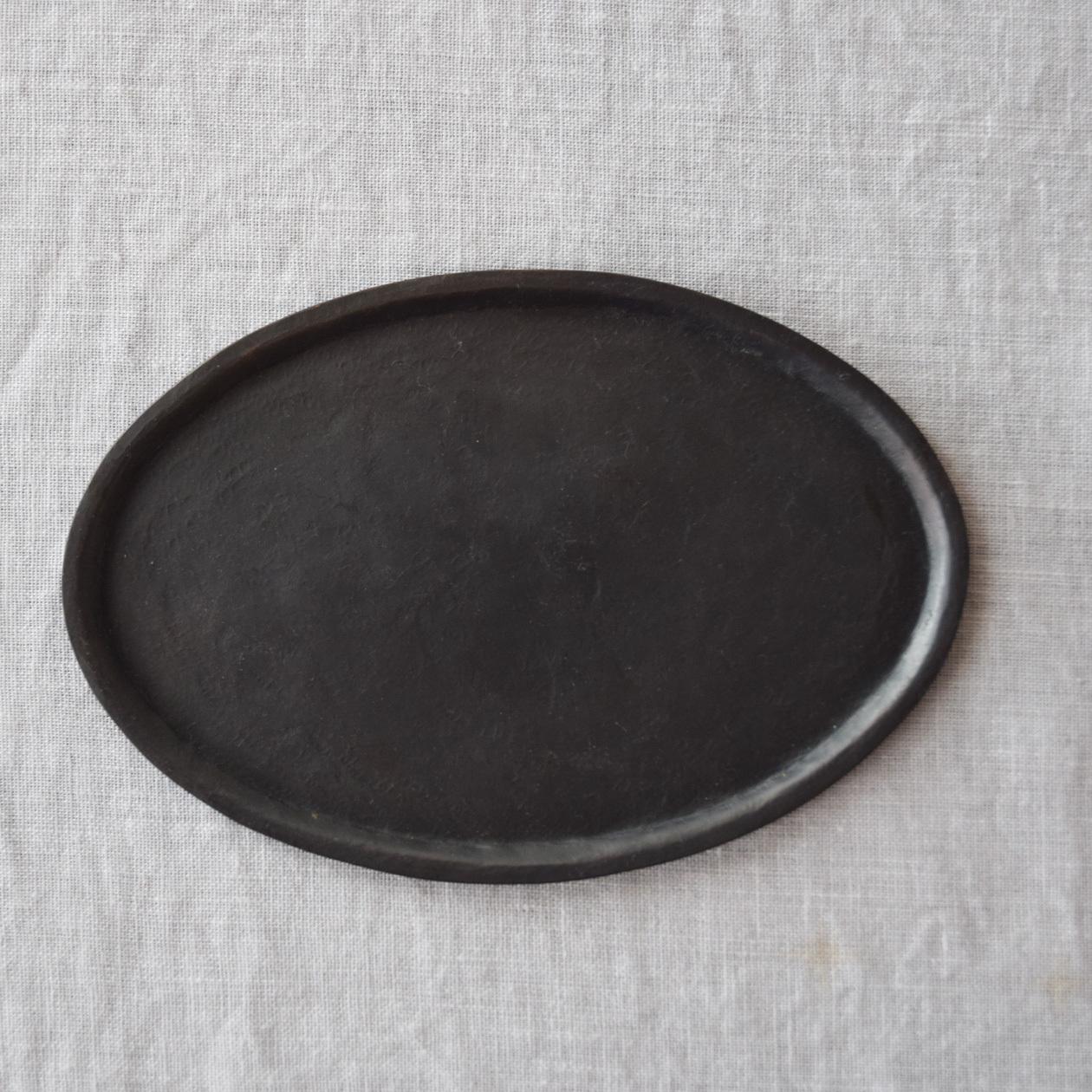 三輪周太郎 Shutaro Miwa  銅製楕円リム皿  b