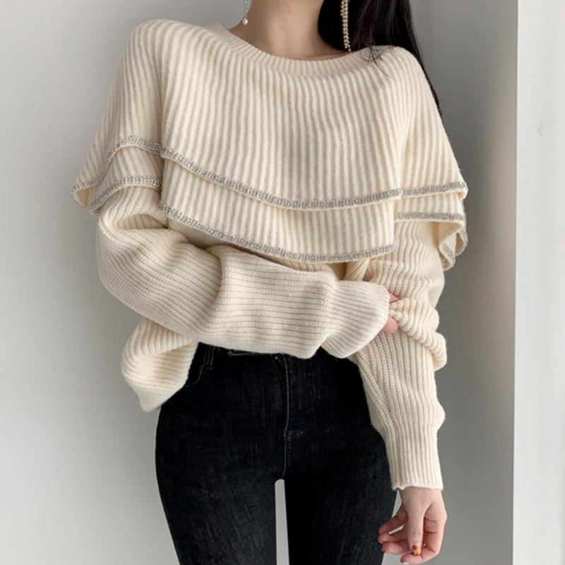 オフショル風セーター