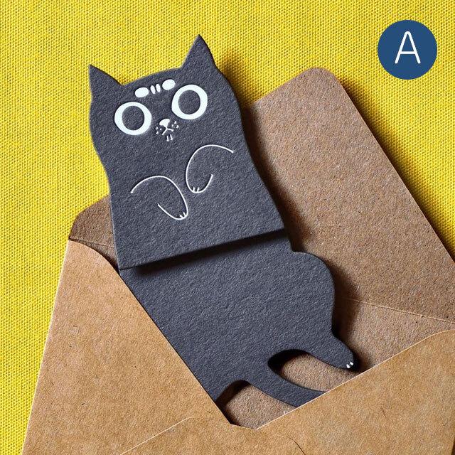猫型メッセージカード A