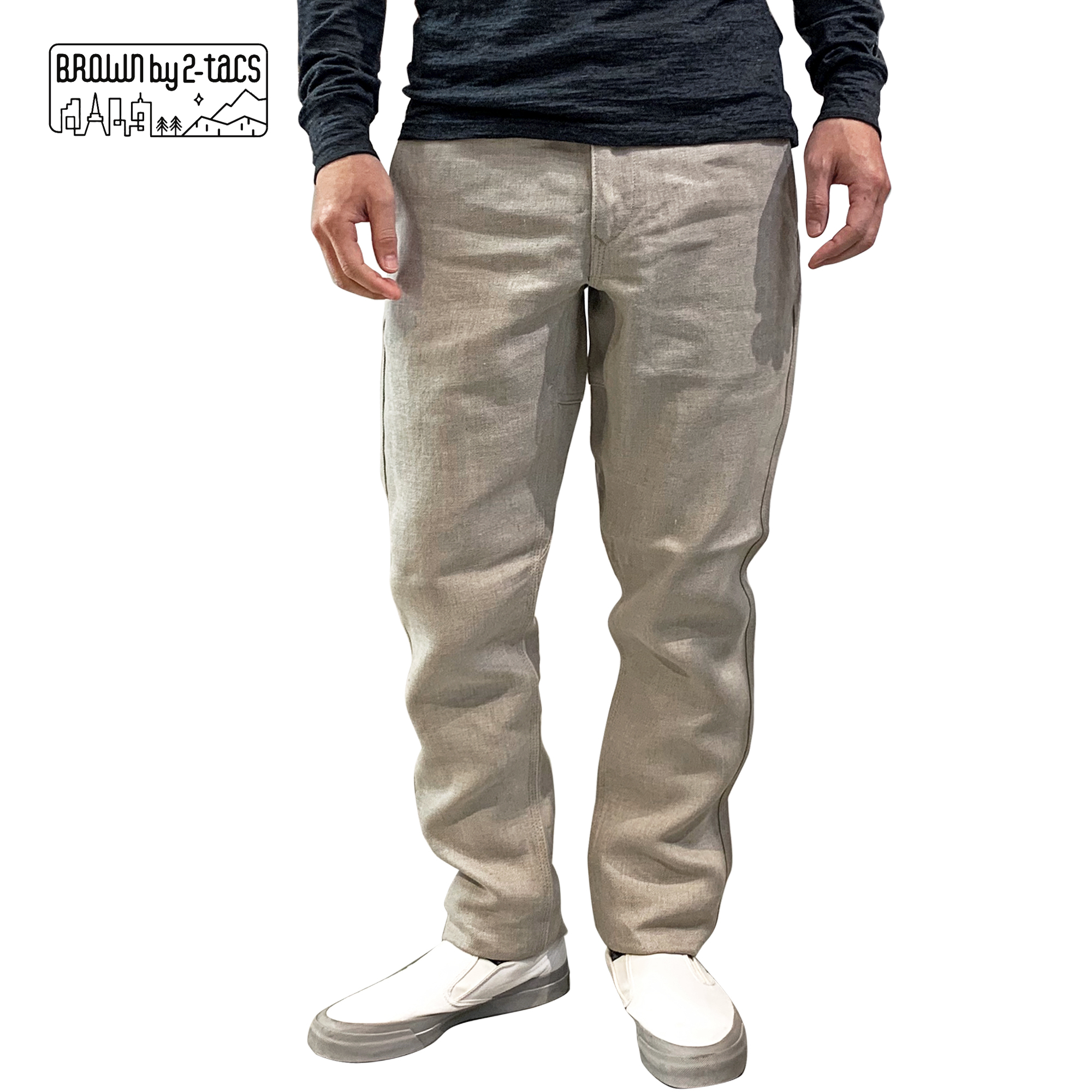 """2-tacs   Linen PANTS """"TAPERED"""""""