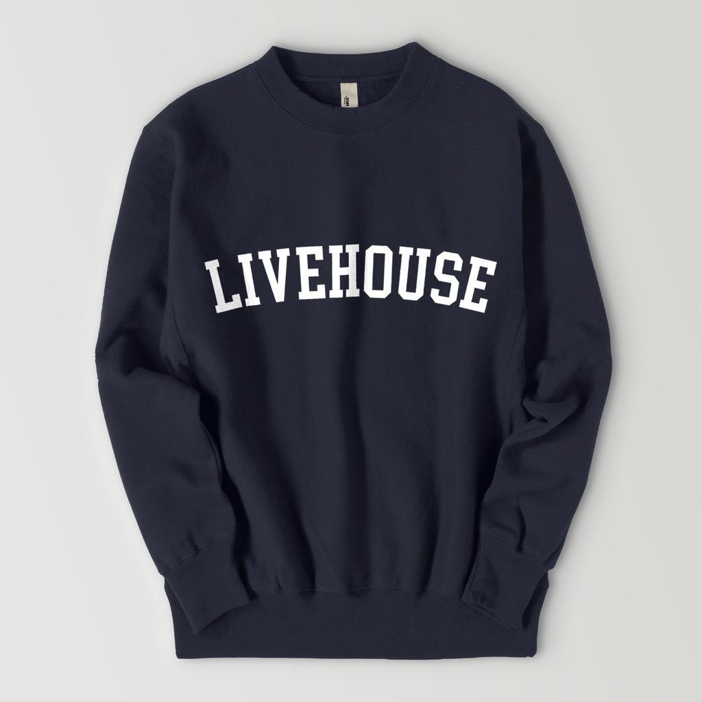 LIVEHOUSE LOGO SWEAT (NAVY)