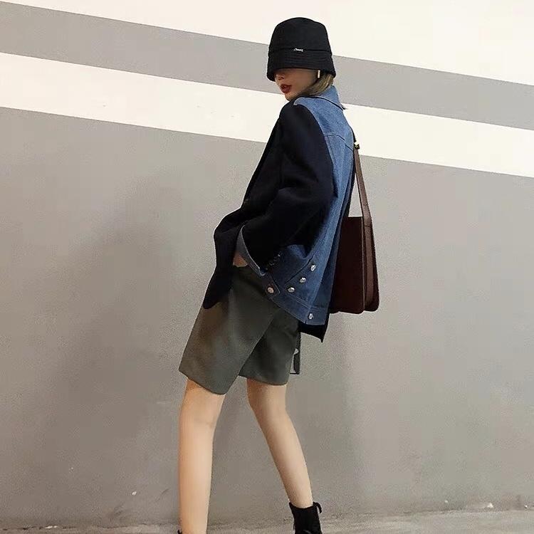 cool back denim jacket