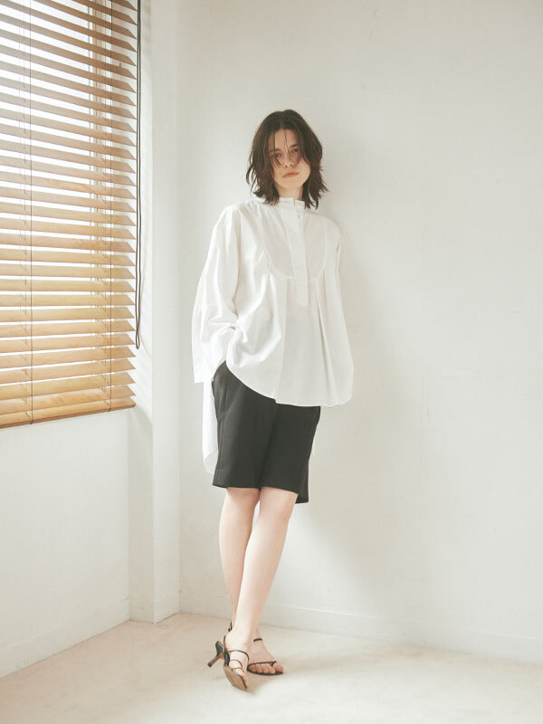 ETRE TOKYO バンドカラースリットタックシャツ